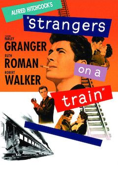 Strangers on a Train movie poster.