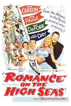 Romance on the High Seas movie poster.
