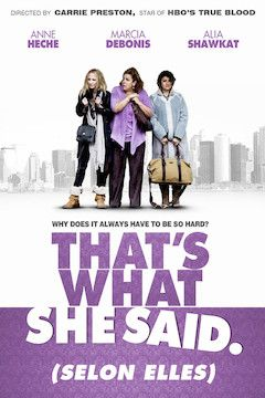 That's What She Said movie poster.
