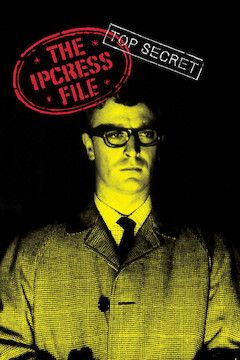 The Ipcress File movie poster.