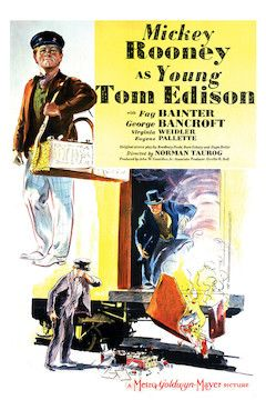Young Tom Edison movie poster.