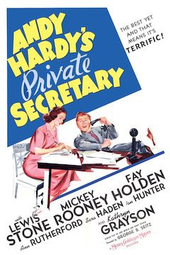 Andy Hardy's Private Secretary movie poster.