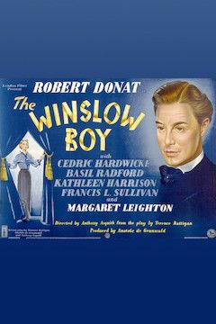 Poster for the movie The Winslow Boy