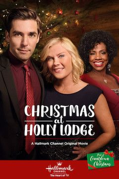 Christmas at Holly Lodge movie poster.