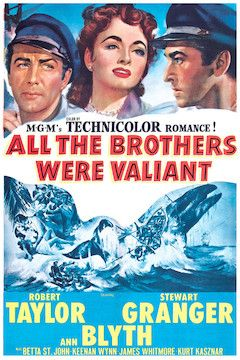All the Brothers Were Valiant movie poster.