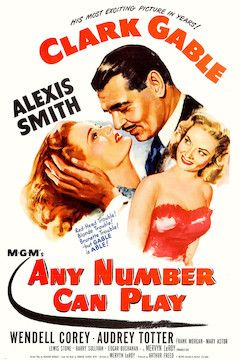Any Number Can Play movie poster.
