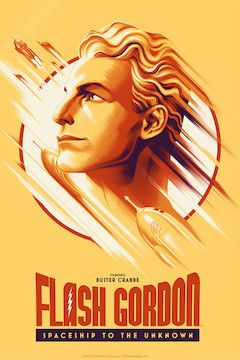 Poster for the movie Flash Gordon: Spaceship to the Unknown
