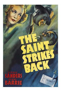 The Saint Strikes Back movie poster.