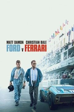 Ford V. Ferrari movie poster.