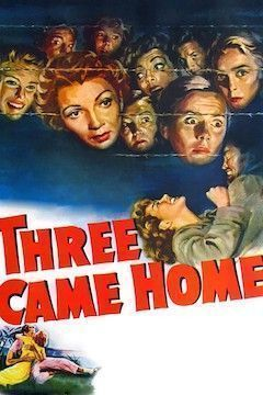 Three Came Home movie poster.