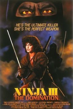 Ninja III: The Domination movie poster.